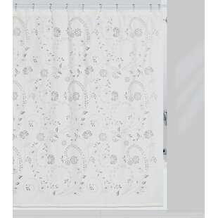 Eyelet Polyester Single Shower Curtain