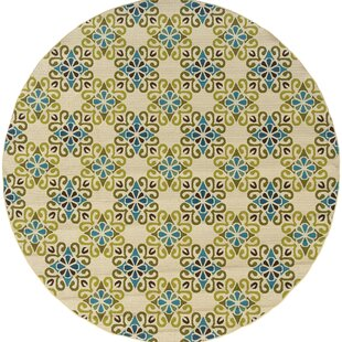 Chupp Yellow/Beige/Blue Indoor/Outdoor Area Rug