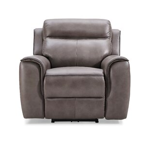 Arlene Leather Electric Recliner By Ebern Designs