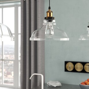 Williston Forge Channelle 1-Light Inverted Pendant