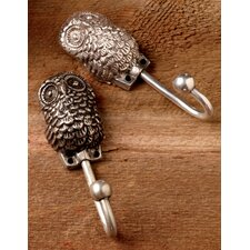 All Seeing Owl Wall Hook (Set of 2) by Kindwer