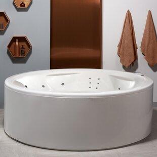 "Aquatica Allegra 74.75"" x 74.75"" Freestanding Air/Whirlpool Bathtub"