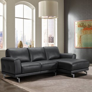 Orren Ellis Randalholme Contemporary Leather Sectional