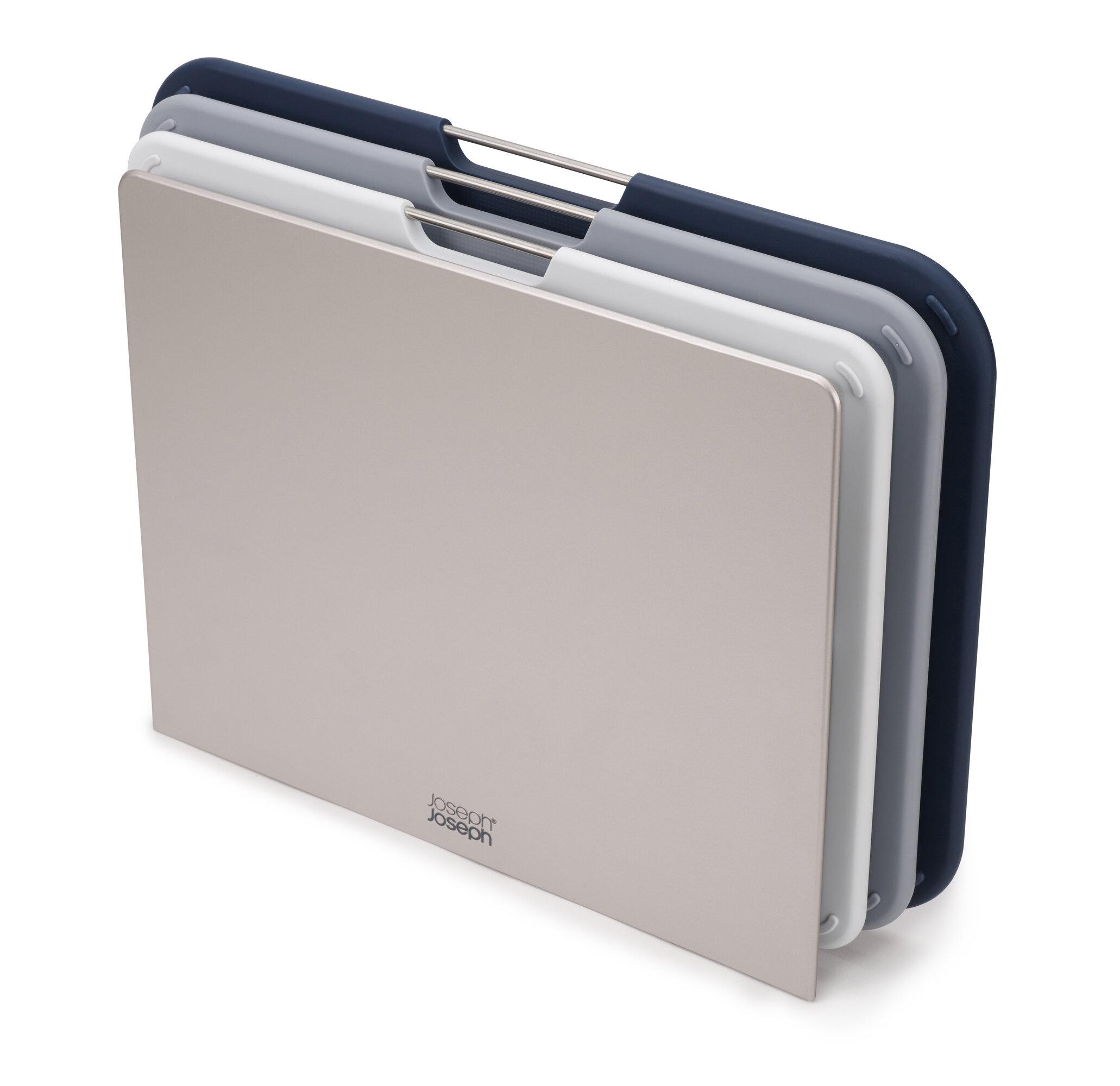 Joseph Joseph Nest Plastic Cutting Board Set With Storage Stand 3 Different Sized Boards Gray Regular Reviews Wayfair