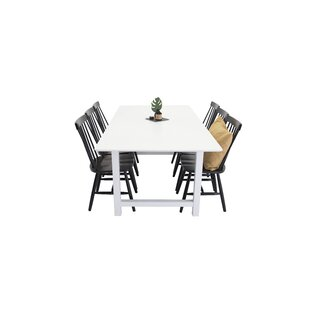 Trumann Dining Set With 6 Chairs By Brambly Cottage