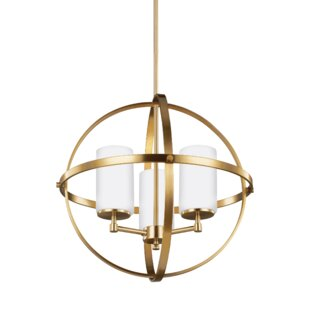 Compare prices Haworth 3-Light Globe Chandelier By Wade Logan