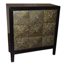 Fihria 3 Pyramid Drawer Chest by World Menagerie