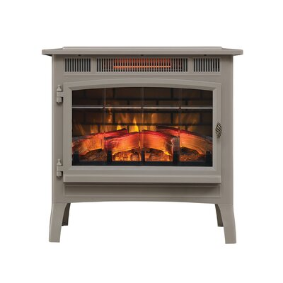 3D Flame Effect Infrared Quartz Electric Stove Duraflame Electric Finish: French Gray