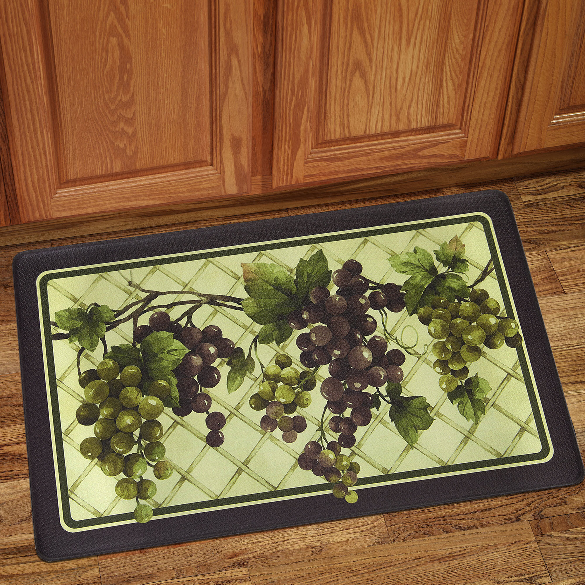 Sweet Home Collection Grapes of Tuscany Anti-Fatigue Kitchen Mat u0026 Reviews | Wayfair.ca & Grapes of Tuscany Anti-Fatigue Kitchen Mat