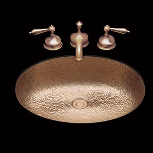 Affordable Sculptured Metal Oval Undermount Bathroom Sink with Overflow By Bates & Bates