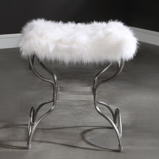 Casias Fur Small Accent Stool