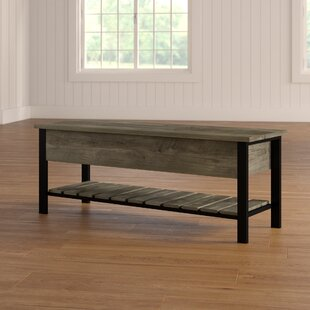 Gracie Oaks Savon Open-Top Wood Storage Bench