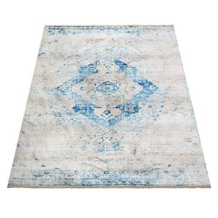 Price Check Mcmullan Oriental Aqua/White Area Rug By Bungalow Rose