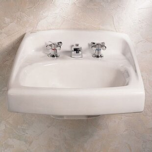 Compare Lucerne Ceramic 21 Wall Mount Bathroom Sink with Overflow By American Standard