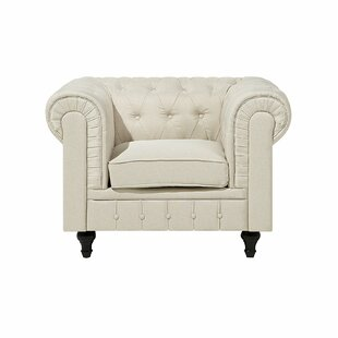 Russell Fabric Chesterfield Chair by House of Hampton
