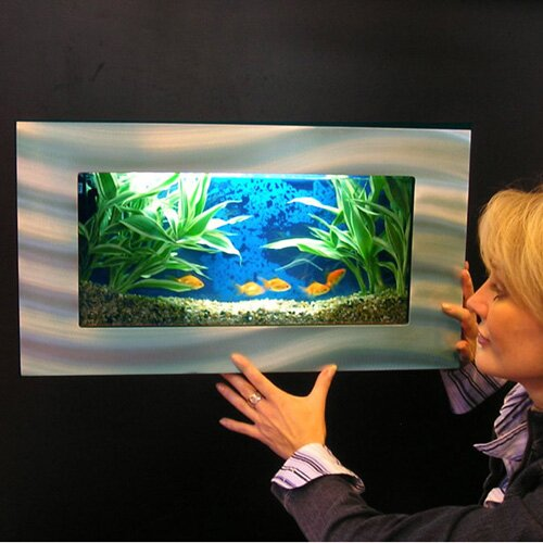 Fish Tank Wall Mounted Vandue Corporation Aussie 2.5 Gallon Wall Mounted Aquarium Tank .