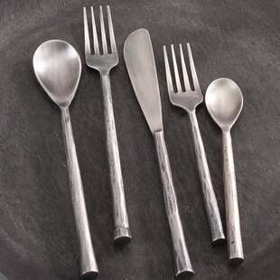 Cadet Stainless Steel 5-Piece Flatware Set, Service for 1