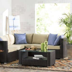Heitz 4 Piece Sectional Seating Group with Cushion
