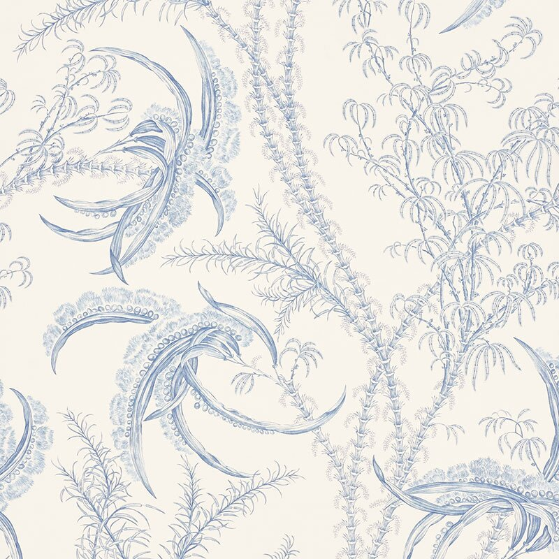 "Ocean Toile 16.5' L x 27.5"" W Wallpaper Roll (Set of 2)"