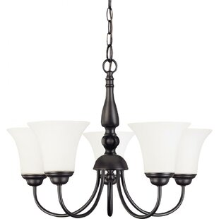 Charlton Home Yale 5-Light Shaded Chandelier