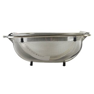 Over the Sink Stainless Steel Colander ByAmco Houseworks