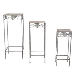 Erik 3 Piece Flower Plant Stand Set By Lily Manor