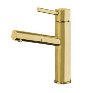 Whitehaus Collection Waterhaus Pull Out Single Handle Kitchen Faucet