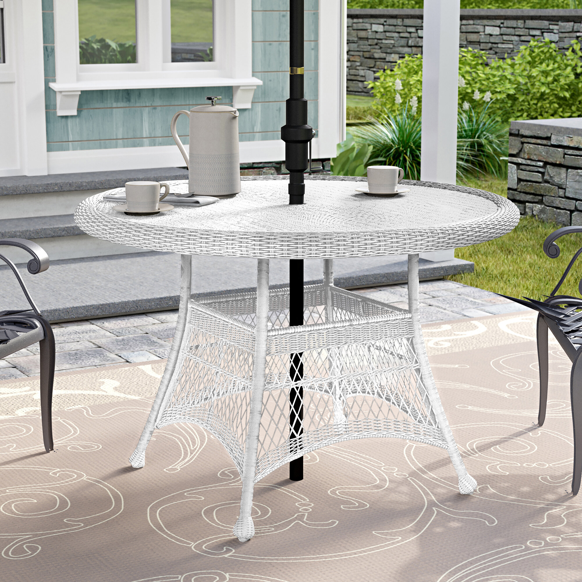 Charlton Home Starcher Wicker Dining Table Reviews Wayfair
