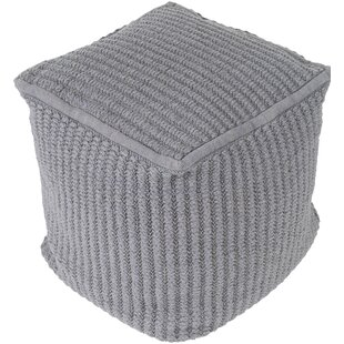 Hochler Pouf by Rosecliff Heights