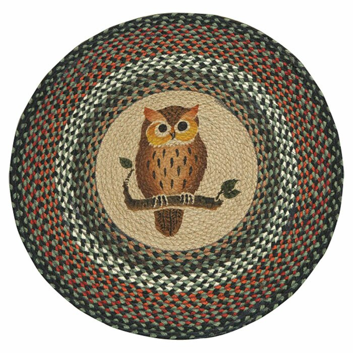 Owl Braided Rug