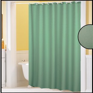 Best Reviews Shannon Waffle Weave Shower Curtain ByLangley Street