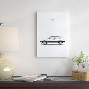 'Volkswagen Golf GTI Mk2' Graphic Art Print on Canvas ByEast Urban Home
