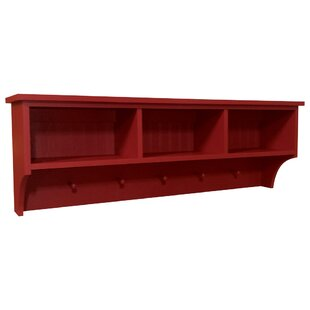 Genial Storage Shelf With Cubbies And Pegs