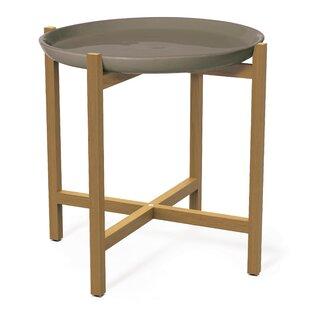 Ibis Ceramic And Teak Side Table By Seasonal Living