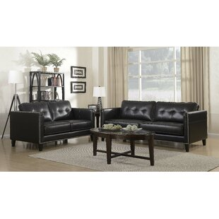 Glen View Leather Loveseat by Red Barrel ..