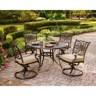 Lauritsen 5 Piece Dining Set with Cushions