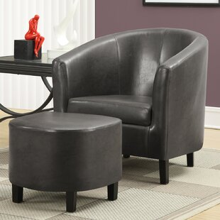 Barrel Chair And Ottoman by Monarch Specialties Inc. #2