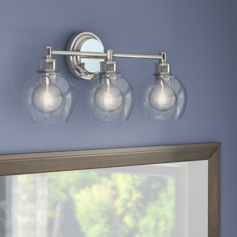 langley street maria 3 light vanity light with clear glass reviews