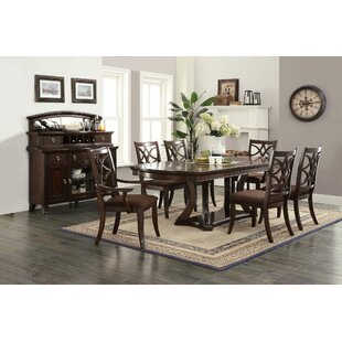 Ridgeway 7 Piece Solid Wood Dining Set Canora Grey