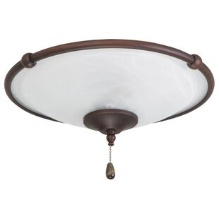 3-Light Glass Shade Bowl Ceiling Fan Light Kit
