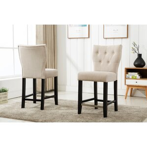 Fontane Counter Height Upholstered Dining Chair (Set of 2) by Darby Home Co