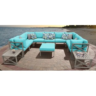 Carlisle 12 Piece Sectional Seating Group with Cushions