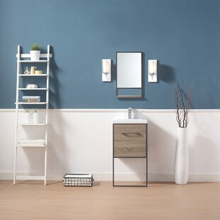Reviews Dublin 18 Single Bathroom Vanity Set with Mirror By Ove Decors