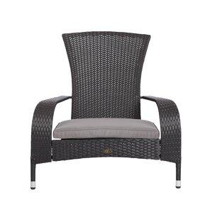 Coconino Wicker Adirondack Chair With Cushions