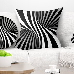 Abstract Spiral Pillow