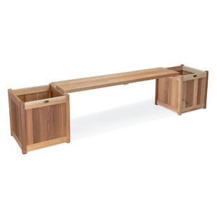 3 Piece Planter with Bench by All Things Cedar