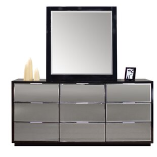 Mera 9 Drawer Double Dresser with Mirror