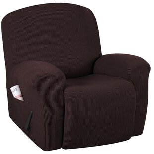 Fabulous Spandex Box Cushion Recliner Slipcover Pabps2019 Chair Design Images Pabps2019Com