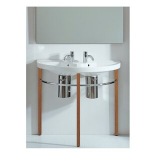 Compare China Series Vitreous China 38 Wall Mount Bathroom Sink with Overflow ByWhitehaus Collection