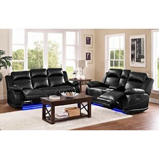 Winston Porter Robins Reclining Configurable Living Room Set